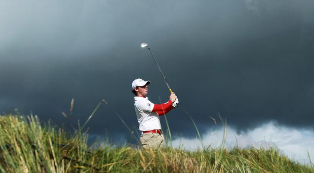 Rory McIlroy at the Royal Portrush Golf Club