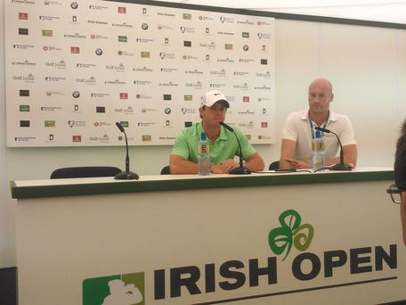 Rory McIlroy at the press conference today