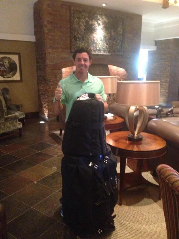 Rory re-united with his clubs