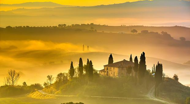 Early morning in Tuscany, Italy