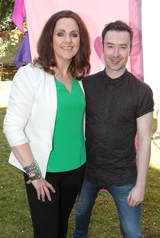 2fm Presenter presenters Ruth Scott and Paddy McKenna Pictures : Brian McEvoy