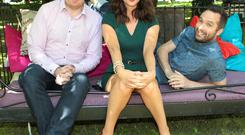 2fm Republic of Breakfast Presenters Bernard O Shea ,Jennifer Maguire and Keith Walsh pictured at the Rte 2fm Summer launch at Rte Radio Studios in Donnybrook, Dublin. Pictures : Brian McEvoy