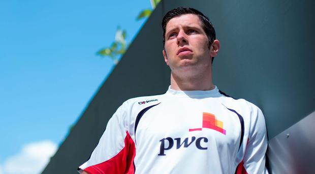 Tyrone's Sean Cavanagh is pictured at the PwC Head Office at Spencer Dock, Dublin, as PwC announces they are renewing their partnership with the GAA and the GPA. Photo: Brendan Moran / SPORTSFILE