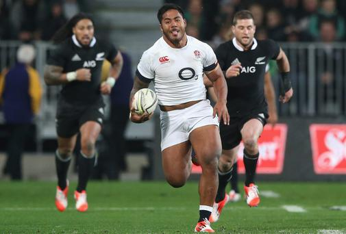 Manu Tuilagi will partner Kyle Eastmond against New Zealand on Saturday as England coach Stuart Lancaster assesses his options at centre. Photo: David Rogers/Getty Images