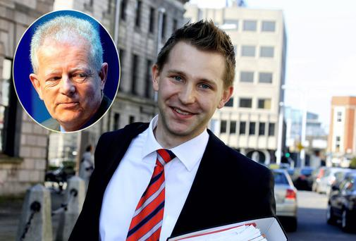 Austrian law student Max Schrems and (inset) data protection commissioner Billy Hawkes