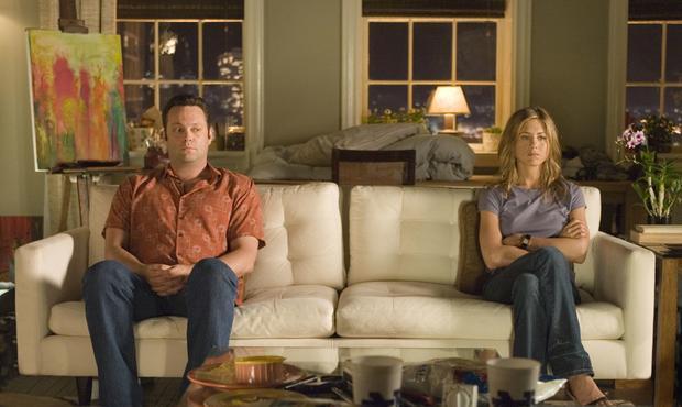 Vince Vaughn and Jennifer Aniston share an awkward quiet moment in the romantic comedy ìThe Break-Up.î CNS Photo courtesy of Melissa Moseley.