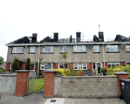 The four homes burned in a fire in Navan today.