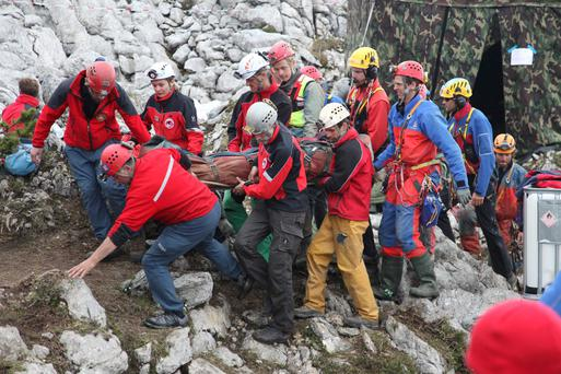 Bavaria's mountain rescue team
