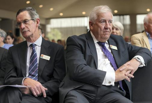 AIB Directors, Dick Spring and Michael Somers at the AIB AGM