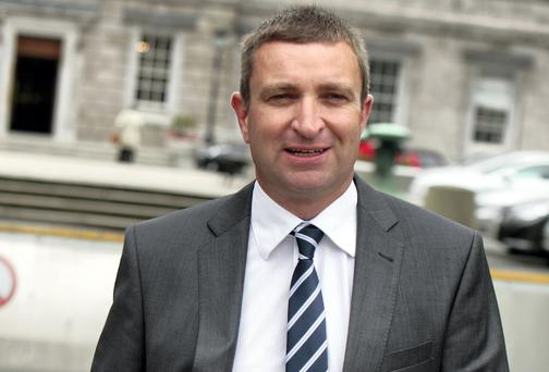 Niall Collins,Fianna Fail deputy for Limerick at Leinster House yesterday. Picture: Tom Burke