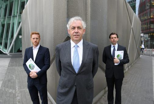 L to R Andrew Griffin, Director, Urban Agency, Aidan O'Hogan, Chairman and Peter Stafford, CEO, Property Industry Ireland pictured ahead of Property Industry Ireland's annual conference, Making Cities Work, in the Marker Hotel, Dublin