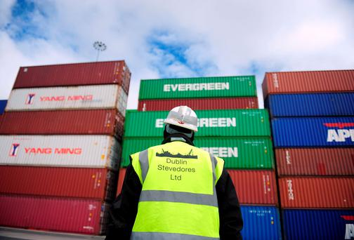 The economy was boosted by a growth in exports