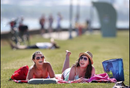 We can expect the weather to be warm, but wet, this week