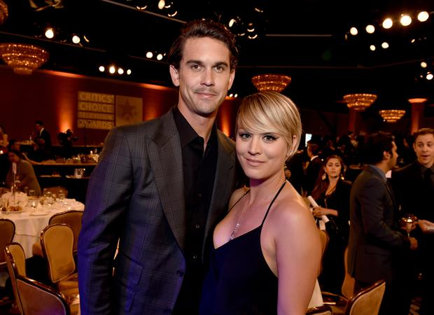 Actress Kaley Cuoco (R) and Tennis player Ryan Sweeting attend the 4th Annual Critics' Choice Television Awards