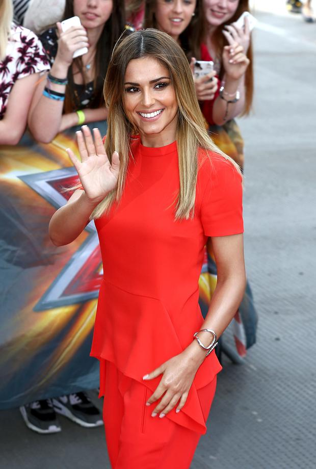 Cheryl Cole arrives for the London Auditions of X Factor at Emirates Stadium on June 20, 2014 in London, England.