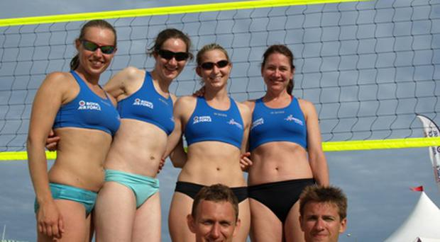Members of the Irish beach volleyball team