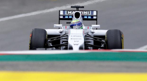 Williams Formula One driver Felipe Massa of Brazil pilots his car during the first free practice session of the Austrian Grand Prix at the Red Bull Ring circuit in Spielberg