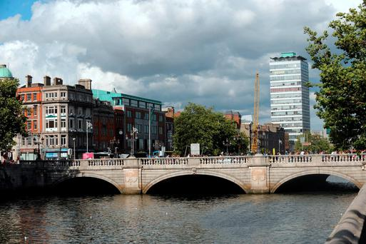 The woman was found on O'Connell Bridge