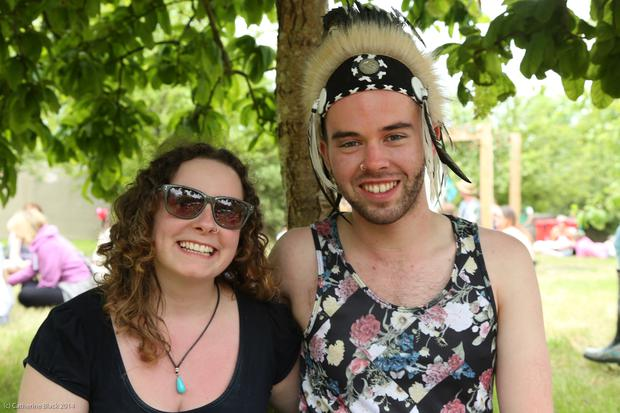 Orla McNally from Westport and Aidan Nee from Connemara at Body & Soul Festival
