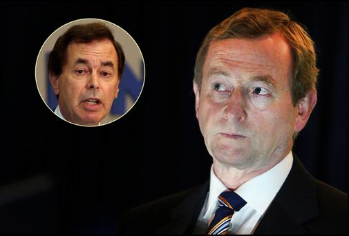 Enda Kenny and (inset) Alan Shatter