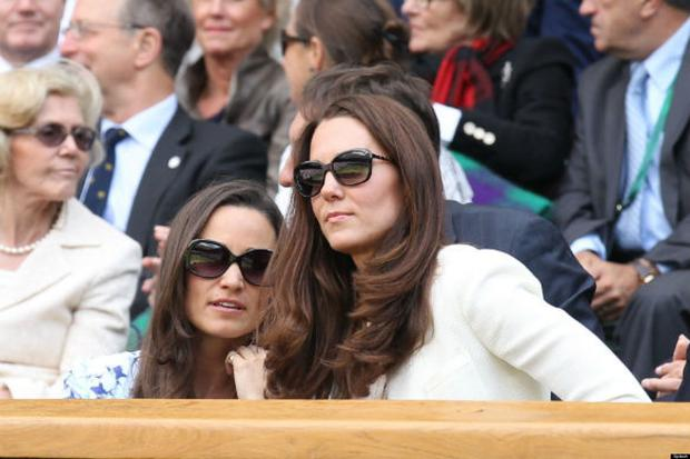 Kate and Pippa Middleton at Wimbledon, June 2013