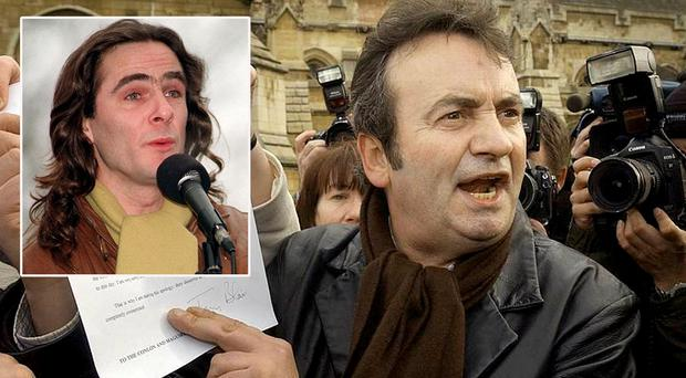 Paul Hill, inset, Gerry Conlon (main image)