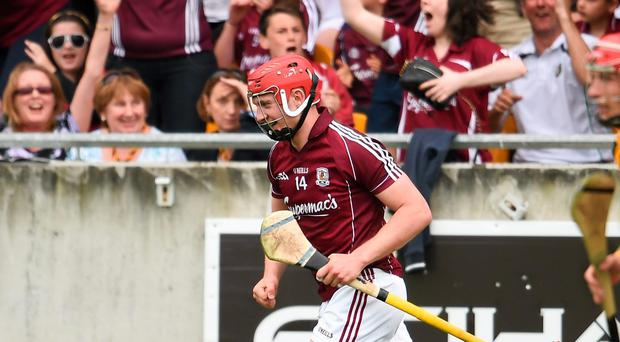 Joe Canning, Galway, after scoring his side's equalising point in injury time