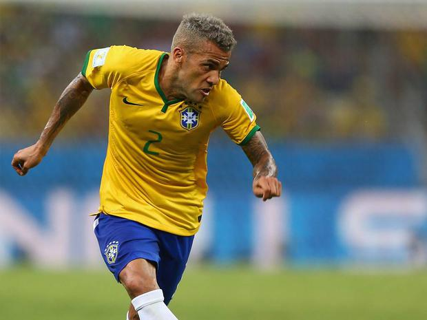 Dani Alves: Dani Alves clearly opted for the wrong shade of highlighter. Instead of going for blond it looks as if the Brazil full back has picked up grey.