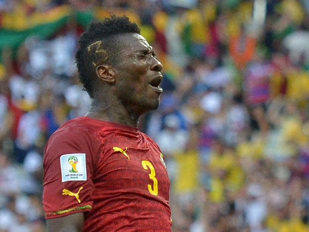 Asamoah Gyan: It's a rare moment when a striker wears the No 3 shirt, but Asamoah Gyan is so close to the number he decided to get it imprinted with blond highlights in the side of his head. If only Ghana could have found a third against the Germans.