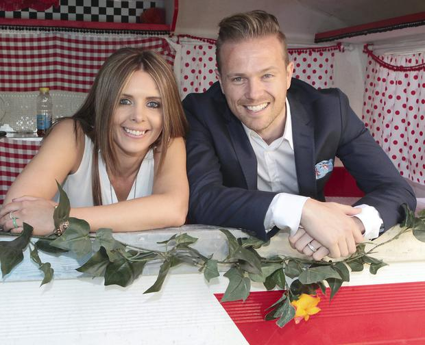 2fm Presenters Jenny Greene and Nicky Byrne pictured at the Rte 2fm Summer launch at Rte Studios in Donnybrook, Dublin. Pictures : Brian McEvoy No Repro fee for one use
