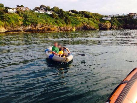 The dinghy the youngsters were found in