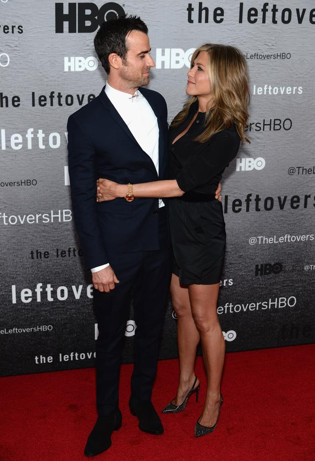 NEW YORK, NY - JUNE 23: Actors Justin Theroux and Jennifer Aniston attend