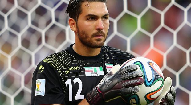 Iran goalkeeper Alireza Haghighi put in a heroic performance to keep Argentina at bay until stoppage time in their World Cup clash on Saturday. Photo: Jamie Squire/Getty Images