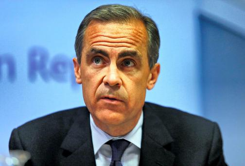 Bank of England governor Mark Carney speaks during the bank's quarterly inflation report news conference at the Bank of England in London. REUTERS/Lefteris Pitarakis/pool