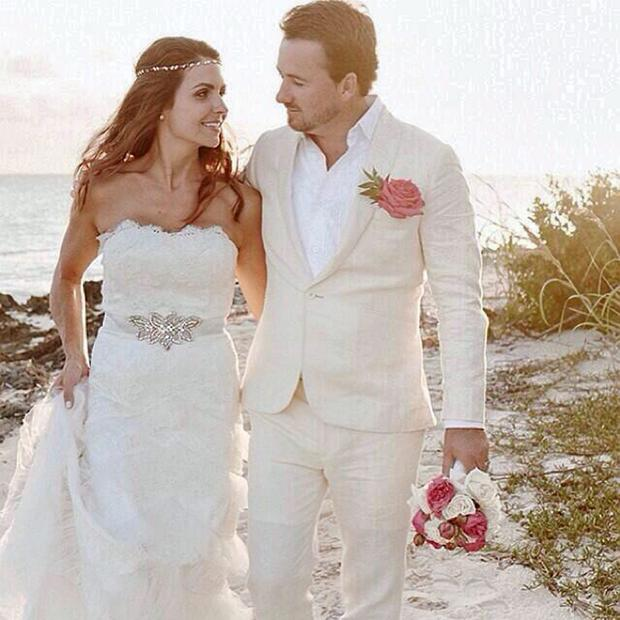 Graeme McDowell and Kristin Stape on their wedding day