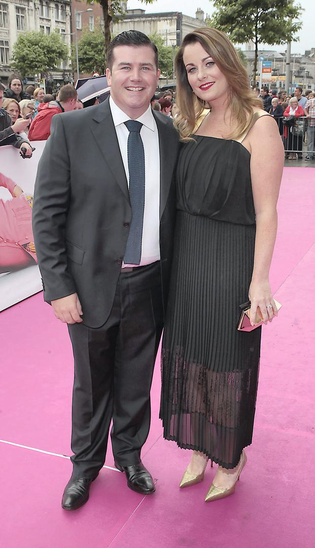 Actor Paddy Houlihan and wife Emily Regan Photo:Brian McEvoy