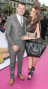 Footballer Shay given and Rebecca Gibson