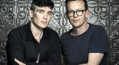 Enda Walsh (right) interviews his long-time friend and creative collaborator, Cillian Murphy.