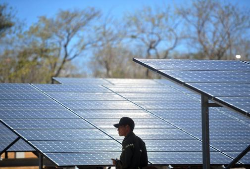Liverpool university scientists have developed a way to make solar panels using salt found in seawater, slashing the cost. Photo: HECTOR RETAMAL/AFP/Getty Images