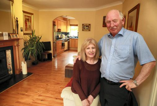 Padraig and Kay Lawford at their home in Willow Court, Cabinteely, Dublin. Picture: Arthur Carron