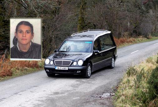 The body of Marioara Rostas (inset) being removed from the Dublin Mountains in 2012