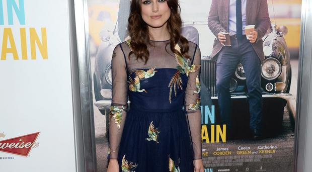 Keira Knightley arrives at the New York premiere of