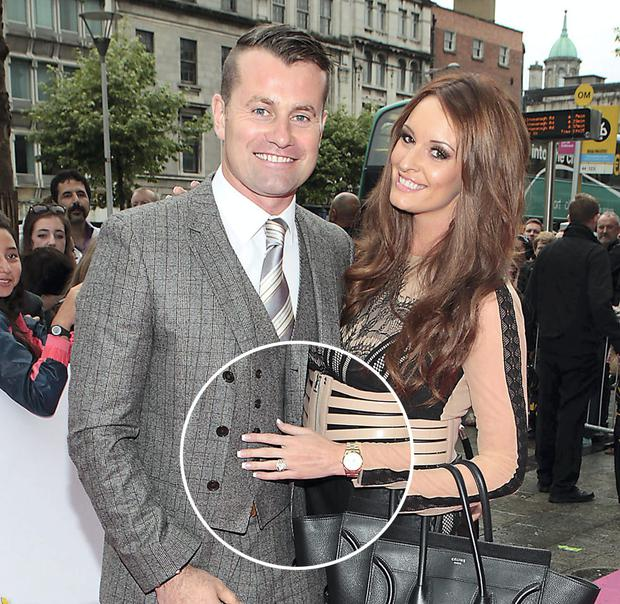 Footballer Shay given and Rebecca Gibson. Pictures:Brian McEvoy