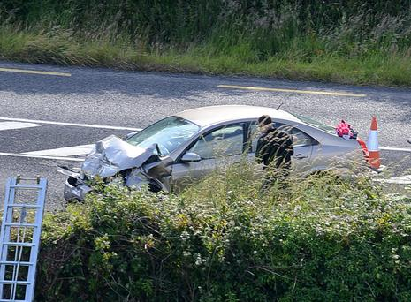 The scene of a fatal road traffic collision which occurred at Owenahincha Cross, Rosscarbery Co Cork on Thursday. Photo: Provision