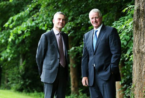 Coillte's acting chief executive Gerry Britchfield and Chairman John Moloney. The company's pre-tax profits more than doubled to €28.7m last year
