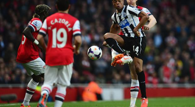 French striker Loic Remy - who spent last season on loan with Newcastle United - is high on Arsenal manager Arsene Wenger's list of summer transfer targets. Photo: Jamie McDonald/Getty Images
