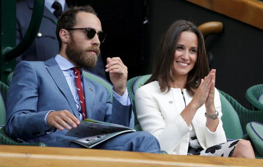 Pippa (R) and James (L) Middleton
