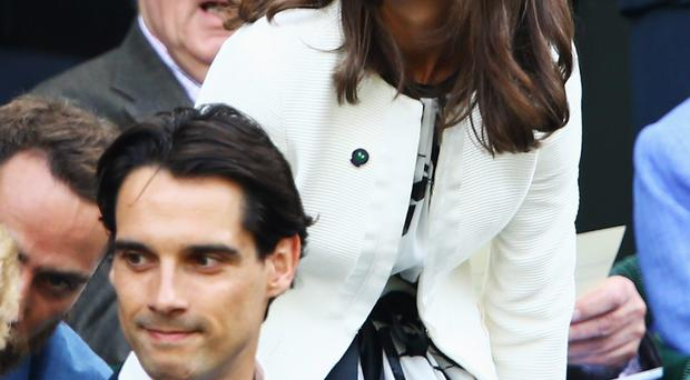 LONDON, ENGLAND - JUNE 26: Pippa Middleton attends Wimbledon on day four of the Wimbledon Lawn Tennis Championships at the All England Lawn Tennis and Croquet Club at Wimbledon on June 26, 2014 in London, England. (Photo by Jan Kruger/Getty Images)