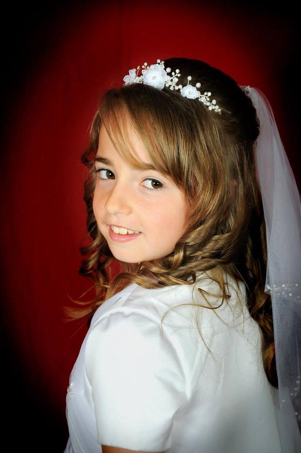 Zoe Scannell (8) in her first holy communion clothes