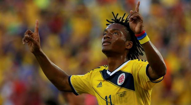 Colombia's Juan Cuadrado is believed to be a £25m target for Man United and Barcelona